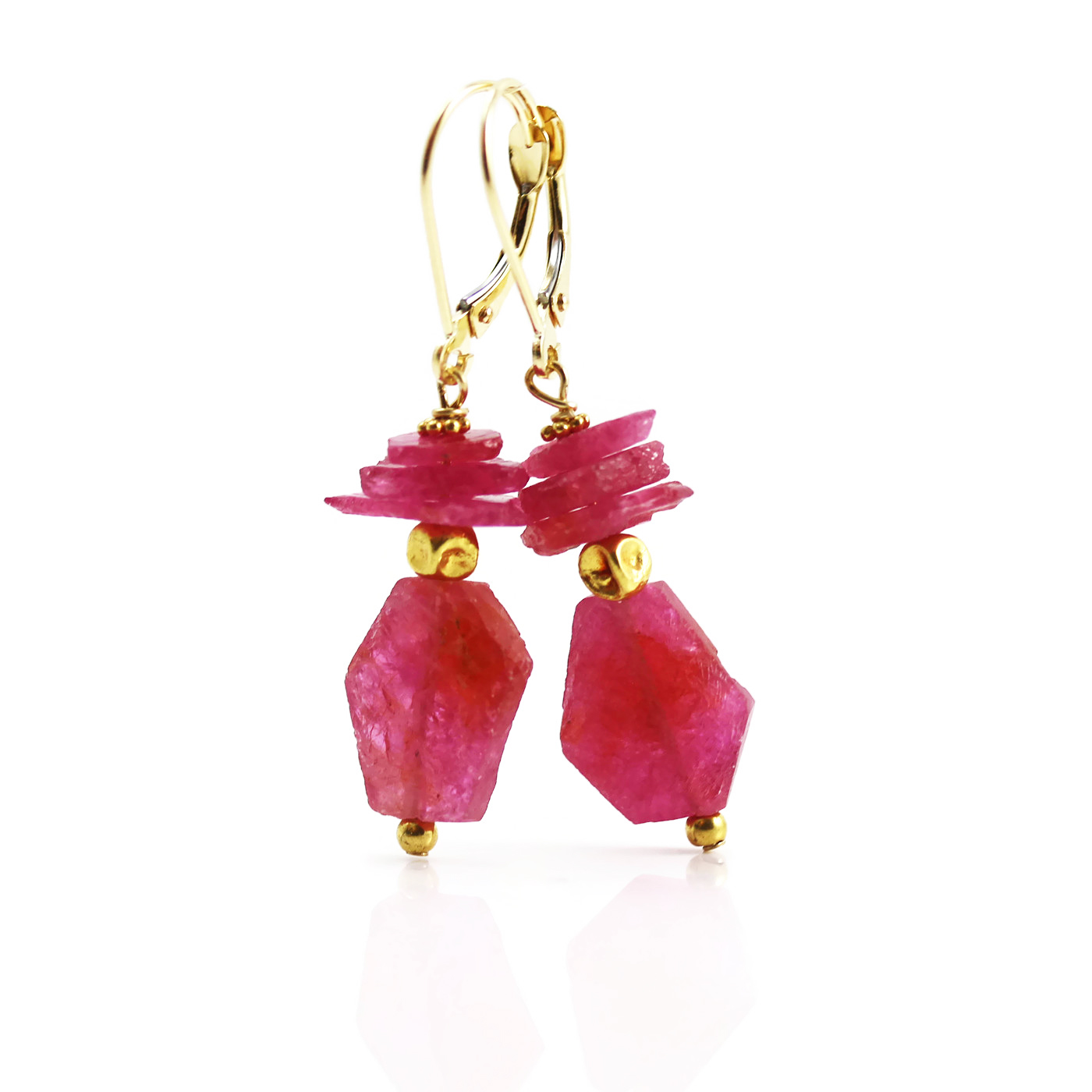 ruby gemstone allurez gold pid rb jewellery earrings leverback dangling drop white